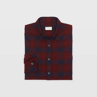 Club Monaco Slim Ombre Plaid Shirt