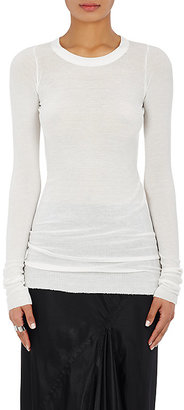 Rick Owens Women's Ribbed Long-Sleeve T-Shirt $300 thestylecure.com