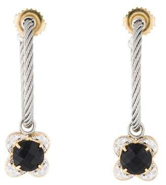 Charriol Onyx & Diamond Drop Earrings