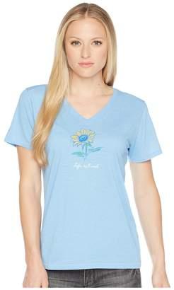 Life is Good Sunflower Cool Vee Tee Women's T Shirt