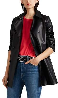 Nili Lotan Women's Rose Leather Trench Coat - Black