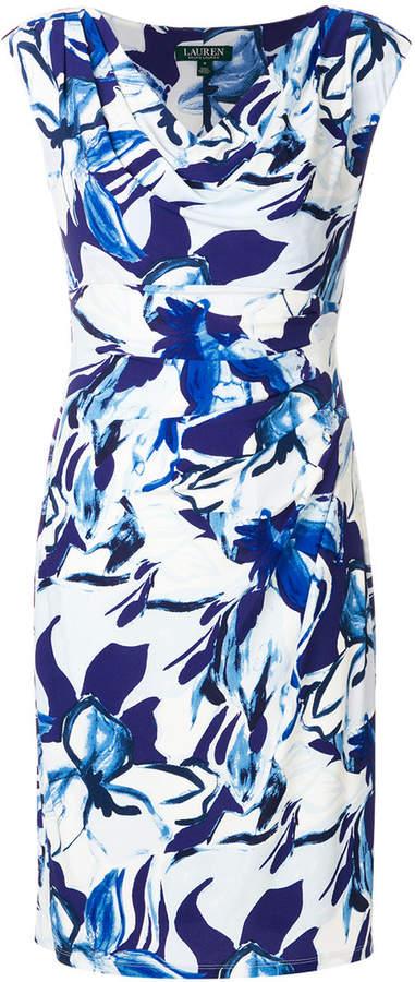 Ralph Lauren abstract print dress