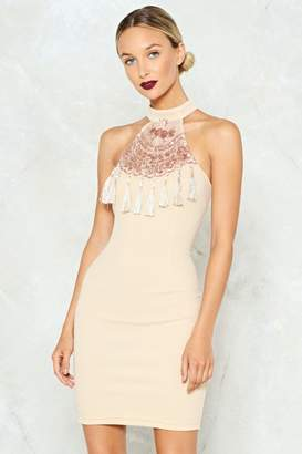 Nasty Gal Hanging On Sequin Dress