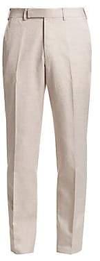 Ermenegildo Zegna Men's Cotton Textured Trousers