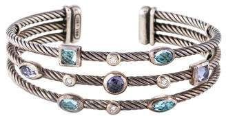 David Yurman Topaz, Iolite & Diamond Confetti Cuff