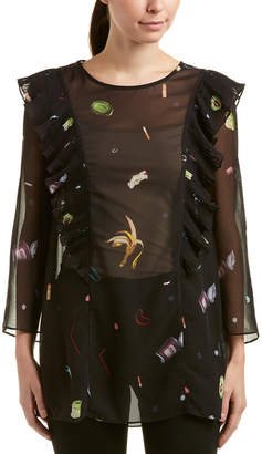 Rachel Antonoff Silk-Trim Tunic