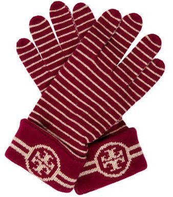 Tory Burch Tory Burch Wool Striped Gloves w/ Tags
