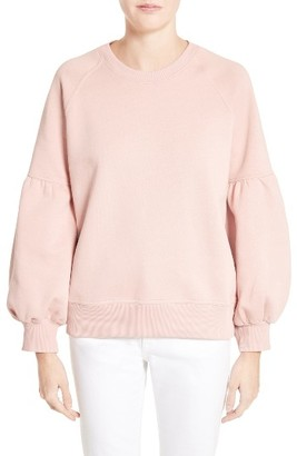Women's Burberry Bell Sleeve Sweatshirt $295 thestylecure.com