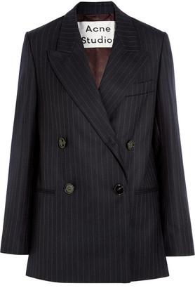 Acne Studios - Jara Double-breasted Pinstriped Wool-twill Blazer - Navy