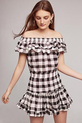 Misa Carrington Off-The-Shoulder Mini Dress $238 thestylecure.com