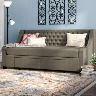 Co Darby Home Aron Twin Upholstery Storage Daybed