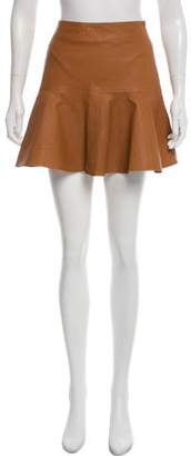 Karina Grimaldi Mini Leather Skirt w/ Tags