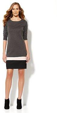 New York & Co. Colorblock-Hem Shift Dress