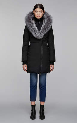 Mackage TEENA-X mid length lux winter down coat with fur-lined hood