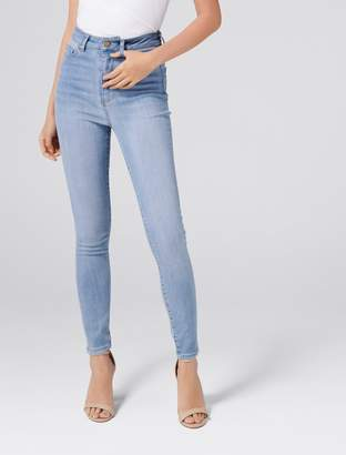 Forever New Cleo High-Rise Ankle Grazer Jeans - Portobello Blue - 4