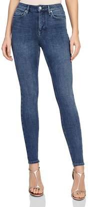Reiss Skye 360 Bi-Stretch High Rise Skinny Jeans in Mid Blue