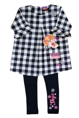 Nickelodeon TM Paw Patrol 'Skye' Cotton Check Dress Shirt Legging Set Girls/Kids/Toddlers