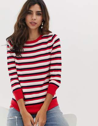 Oasis crew neck jumper in stripe