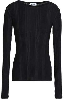 DKNY Ribbed Cotton Top