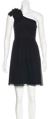 Tibi Silk One-Shoulder Dress
