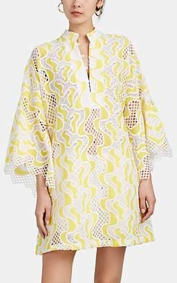 266d06e19f La Vie Style House Women's Wave-Lace Mini-Caftan - White, ...