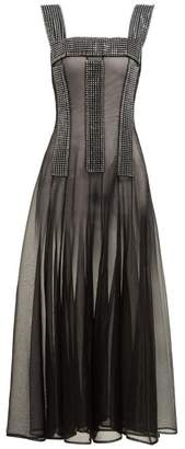 Christopher Kane Crystal Embellished Sheer Dress - Womens - Black