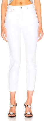 GRLFRND Karolina High Rise Skinny Crop in White Flag | FWRD