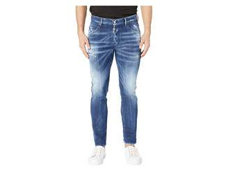 DSQUARED2 Army Fade Wash Skater Jeans in Blue