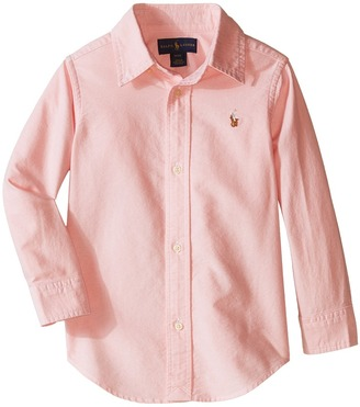 Polo Ralph Lauren Kids - Solid Oxford Shirt Boy's Long Sleeve Button Up $39.50 thestylecure.com