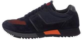 Prada Sport Suede-Trimmed Sneakers