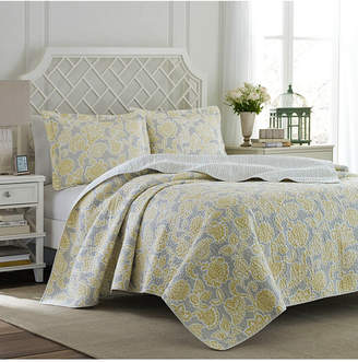 Laura Ashley Full/Queen Joy Lemon Quilt Set Bedding