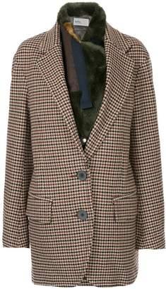 Kolor checked oversized jacket