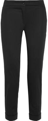 Etro - Sigaretta Cropped Stretch-piqué Straight-leg Pants - Black $450 thestylecure.com