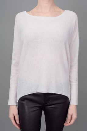 Subtle Luxury Button Back Sweater Porcelin
