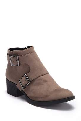 Kenneth Cole Reaction Re-Belle Monk Strap Suede Ankle Boot