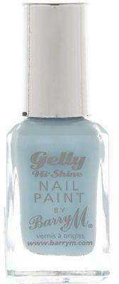 Huckleberry blue Barry M gelly nail polish