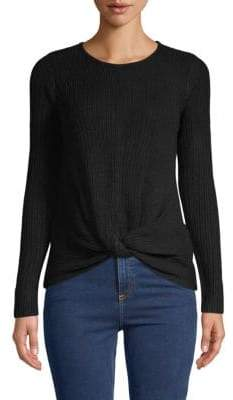 Design History Ribbed Twist-Knot Top