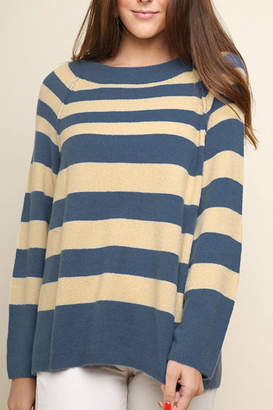 Umgee USA Striped Knit Pullover