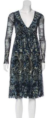 Jean Paul Gaultier Soleil Printed Midi Dress