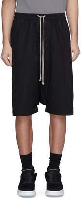 Rick Owens 'Pod' drop crotch poplin shorts
