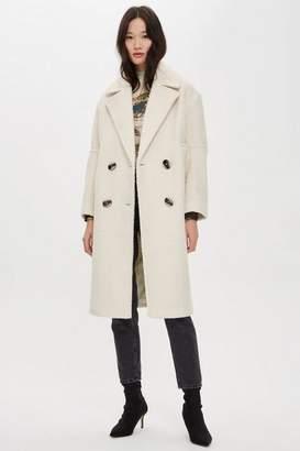 Topshop Tall Boucle Coat