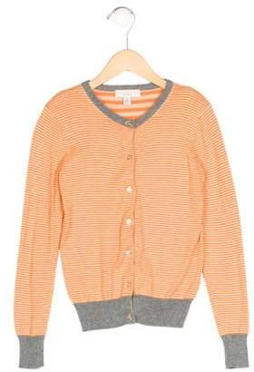 Stella McCartney Girls' Striped Rib Knit Cardigan