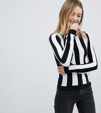 Monki Color Stripe Knitted Sweater