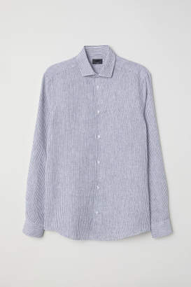 H&M Linen Shirt Slim fit - White