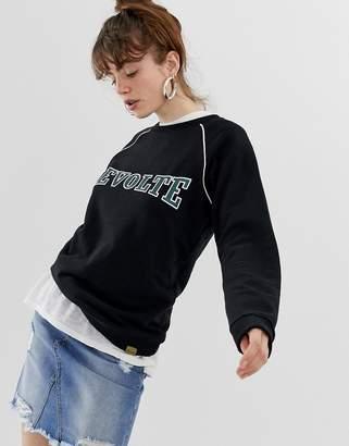 Blend She Casius revolte print sweatshirt