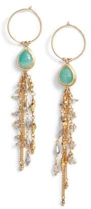 Chan Luu Moonstone Chain Earrings