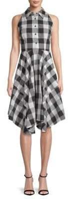 Julia Jordan Gingham Cotton Shirtdress