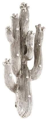 Oscar de la Renta Crystal Cactus Brooch