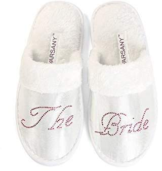 clear CrystalsRus Bride Party Spa Slippers Hen Party Wedding Diamante Rhinestone Crystal Hotel Honeymoon Slippers