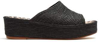 CARRIE FORBES Karim raffia flatform sandals